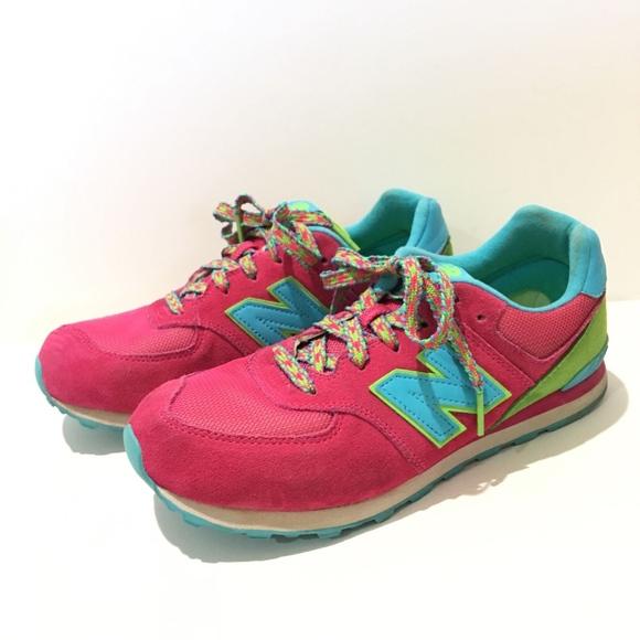 New Teal Shoes574 Skittle Poshmark Pink Mens 7 Balance Rainbow ynvOP0Nm8w